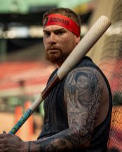 BOSTON, MA - AUGUST 17: Christian Vazquez #7 of the Boston Red Sox poses for a portrait before a game against the Baltimore Orioles on August 17, 2019 at Fenway Park in Boston, Massachusetts. (Photo by Billie Weiss/Boston Red Sox/Getty Images) *** Local Caption *** Christian Vazquez