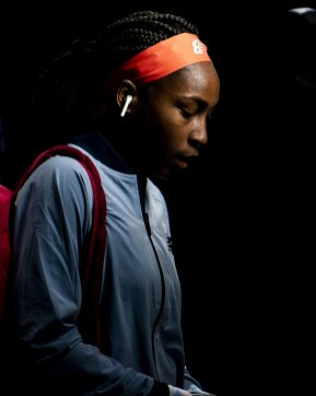 August 29, 2019, New York City, NY: Coco Gauff looks on in the tunnel before a match against Timea Babos during the 2019 US Open Tennis Championships at the Billie Jean King National Tennis Center in New York, New York Thursday, August 29, 2019. (Photo by Billie Weiss/US Open Tennis Championships)