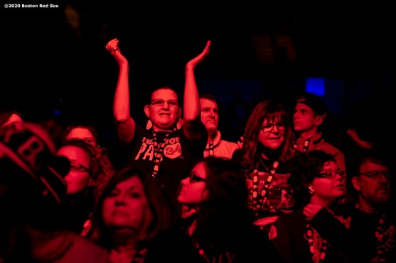 SPRINGFIELD, MA - JANUARY 17: Fans cheer during the Boston Red Sox NESN Town Hall during the 2020 Red Sox Winter Weekend on January 17, 2020 at MGM Springfield and MassMutual Center in Springfield, Massachusetts. (Photo by Billie Weiss/Boston Red Sox/Getty Images) *** Local Caption ***