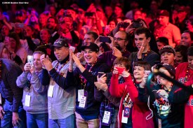 SPRINGFIELD, MA - JANUARY 18: Fans cheer during a 'Reunion of Champions' panel during the 2020 Red Sox Winter Weekend on January 18, 2020 at MGM Springfield and MassMutual Center in Springfield, Massachusetts. (Photo by Billie Weiss/Boston Red Sox/Getty Images) *** Local Caption ***