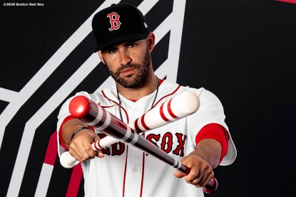 FT. MYERS, FL - FEBRUARY 19: J.D. Martinez #28 of the Boston Red Sox poses for a portrait during team photo day on February 19, 2020 at jetBlue Park at Fenway South in Fort Myers, Florida. (Photo by Billie Weiss/Boston Red Sox/Getty Images) *** Local Caption *** J.D. Martinez