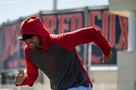 FT. MYERS, FL - MARCH 7: Heath Hembree #37 of the Boston Red Sox runs sprints before a Grapefruit League game against the Toronto Blue Jays on March 7, 2020 at jetBlue Park at Fenway South in Fort Myers, Florida. (Photo by Billie Weiss/Boston Red Sox/Getty Images) *** Local Caption *** Heath Hembree
