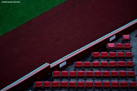 BOSTON, MA - APRIL 2: Empty seats are shown as the sun rises over Fenway Park on what would have been the home opening day for the Boston Red Sox against the Chicago White Sox at Fenway Park on April 2, 2020 at Fenway Park in Boston, Massachusetts. The game was postponed due to the coronavirus pandemic. (Photo by Billie Weiss/Boston Red Sox/Getty Images) *** Local Caption ***