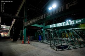 BOSTON, MA - JULY 28: A general view of the empty concourse during a game between the Boston Red Sox and the New York Mets on July 28, 2020 at Fenway Park in Boston, Massachusetts. The 2020 season had been postponed since March due to the COVID-19 pandemic. (Photo by Billie Weiss/Boston Red Sox/Getty Images) *** Local Caption ***