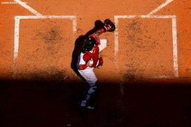 BOSTON, MA - SEPTEMBER 20: Christian Vazquez #7 of the Boston Red Sox throws during the fourth inning of a game against the New York Yankees on September 20, 2020 at Fenway Park in Boston, Massachusetts. The 2020 season had been postponed since March due to the COVID-19 pandemic. (Photo by Billie Weiss/Boston Red Sox/Getty Images) *** Local Caption *** Christian Vazquez
