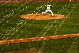 BOSTON, MA - SEPTEMBER 22: Marcus Walden #64 of the Boston Red Sox delivers during the fifth inning of a game against the Baltimore Orioles on September 22, 2020 at Fenway Park in Boston, Massachusetts. The 2020 season had been postponed since March due to the COVID-19 pandemic. (Photo by Billie Weiss/Boston Red Sox/Getty Images) *** Local Caption *** Marcus Walden
