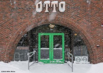 """Otto Pizza is shown during snow storm Juno in Brookline, Massachusetts Tuesday, January 27, 2015."""