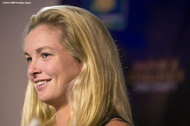 """Coco Vandeweghe attends the McEnroe Challenge for Charity VIP Draw Ceremony in Stadium 2 at the Indian Wells Tennis Garden in Indian Wells, California Friday, March 6, 2015."""