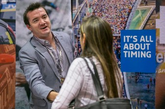 """Registrants interact at the expo during the TEAMS Conference & Expo at Mandalay Bay Convention Center in Las Vegas, Nevada Wednesday, November 11, 2015."""