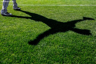 FT. MYERS, FL - FEBRUARY 26: A shadow is shown during a Boston Red Sox team workout on February 26, 2016 at Fenway South in Fort Myers, Florida . (Photo by Billie Weiss/Boston Red Sox/Getty Images) *** Local Caption ***