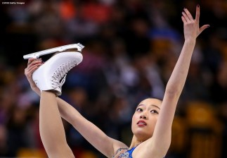 BOSTON, MA - MARCH 31: Ziquan Zhao of China competes during Day 4 of the ISU World Figure Skating Championships 2016 at TD Garden on March 31, 2016 in Boston, Massachusetts. (Photo by Billie Weiss - ISU/ISU via Getty Images) *** Local Caption *** Ziquan Zhao
