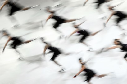 BOSTON, MA - APRIL 3: The Haydenettes synchronized team perform during the exhibition of champions during Day 7 of the ISU World Figure Skating Championships 2016 at TD Garden on April 3, 2016 in Boston, Massachusetts. (Photo by Billie Weiss - ISU/ISU via Getty Images) *** Local Caption *** The Haydenettes