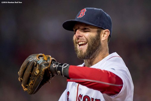 BOSTON, MA - APRIL 30: Dustin Pedroia #15 of the Boston Red Sox reacts during the fourth inning of a game against the New York Yankees on April 30, 2016 at Fenway Park in Boston, Massachusetts . (Photo by Billie Weiss/Boston Red Sox/Getty Images) *** Local Caption *** Dustin Pedroia