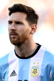 FOXBORO, MASSACHUSETTS - JUNE 18: Lionel Messi of Argentina looks on during a Quarterfinal match between Argentina and Venezuela at Gillette Stadium as part of Copa America Centenario US 2016 on June 18, 2016 in Foxboro, Massachusetts, US. (Photo by Billie Weiss/LatinContent/Getty Images)