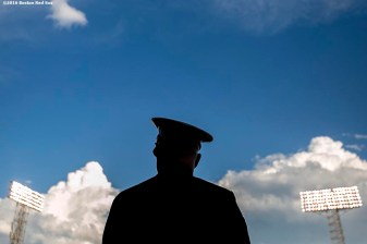 BOSTON, MA - JULY 23: A member of the Military looks on before a game between the Boston Red Sox and the Minnesota Twins on July 23, 2016 at Fenway Park in Boston, Massachusetts. (Photo by Billie Weiss/Boston Red Sox/Getty Images) *** Local Caption ***
