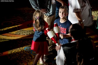 January 21, 2017, Ledyard, CT: A young fan watches a juggler during the 2017 Red Sox Winter Weekend at Foxwoods Resort & Casino in Ledyard, Connecticut Saturday, January 21, 2017. (Photo by Billie Weiss/Boston Red Sox)