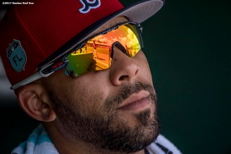 FT. MYERS, FL - FEBRUARY 27: David Price #24 of the Boston Red Sox looks on during the second inning of a Spring Training game against the St. Louis Cardinals on February 27, 2017 at Fenway South in Fort Myers, Florida . (Photo by Billie Weiss/Boston Red Sox/Getty Images) *** Local Caption *** David Price