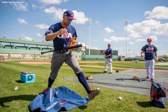 FT. MYERS, FL - MARCH 9: Giancarlo Stanton of Team USA walks onto the field before a Spring Training game against the Boston Red Sox on March 9, 2017 at Fenway South in Fort Myers, Florida . (Photo by Billie Weiss/Boston Red Sox/Getty Images) *** Local Caption *** Giancarlo Stanton