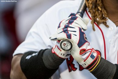 BOSTON, MA - APRIL 11: Hanley Ramirez #13 of the Boston Red Sox grips his bat before a game against the Baltimore Orioles on April 11, 2017 at Fenway Park in Boston, Massachusetts. (Photo by Billie Weiss/Boston Red Sox/Getty Images) *** Local Caption ***Hanley Ramirez