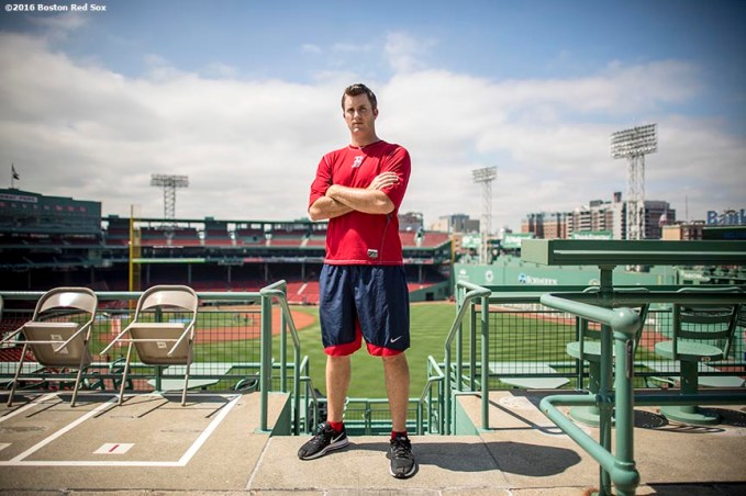 April 27, 2017, Boston, MA: Boston Red Sox pitcher Drew Pomeranz poses for a portrait at Fenway Park in Boston, Massachusetts Thursday, April 27, 2017. (Photo by Billie Weiss/Boston Red Sox)
