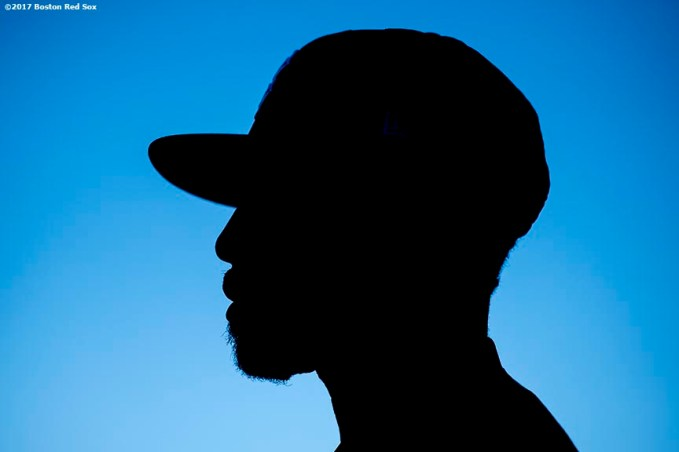 BOSTON, MA - JUNE 11: Jackie Bradley Jr. #19 of the Boston Red Sox looks on before a game against the Detroit Tigers on June 11, 2017 at Fenway Park in Boston, Massachusetts. (Photo by Billie Weiss/Boston Red Sox/Getty Images) *** Local Caption *** Jackie Bradley Jr.