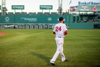 BOSTON, MA - JULY 16: David Price #24 of the Boston Red Sox walks onto the field before a game against the New York Yankees on July 16, 2017 at Fenway Park in Boston, Massachusetts. (Photo by Billie Weiss/Boston Red Sox/Getty Images) *** Local Caption *** David Price