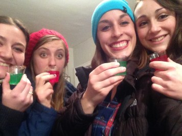 Christmas jello shots with the babes!