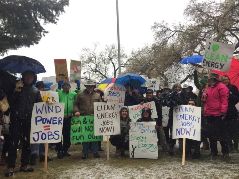 Demanding clean energy solutions from Senator Steve Daines.