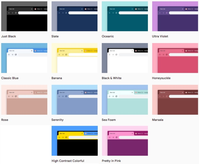 Google Chrome Received 12 New Themes, Including A