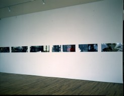 Bill Jones, Les Crimes de l' Amour, 1978, Colour and black and white photographs, 40.6 x 1219 cm, 16 x 480 in. Installation view PS 1. Collection The Art Bank