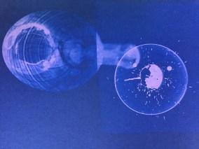 Bill Jones, purple spill # 1, 2015, cyanotype, 8x10 inches