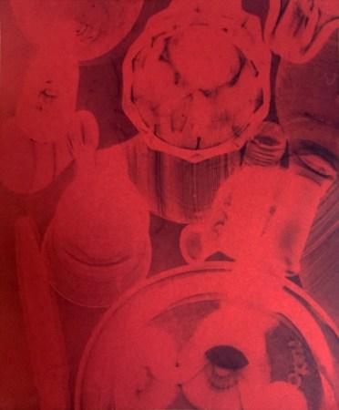 Bill Jones, red ware, 2015, cyanotype, 8x10 inches