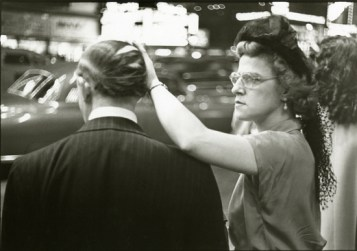 """Copyright Louis Faurer, """"Comb Over,"""" NYC, 1949"""