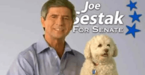 Sestak and small dog