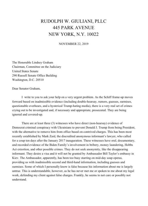 Giuliani Letter To Graham