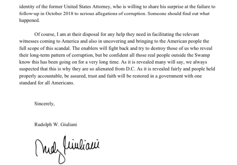 Giuliani Letter To Graham