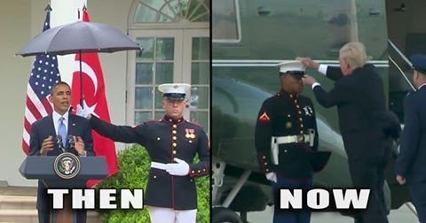 Trump Respect For Military In One Meme