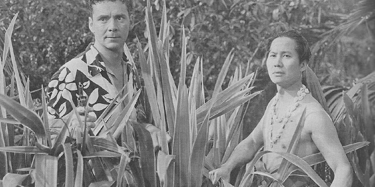 a publicity still from the serial Lost City of the Jungle