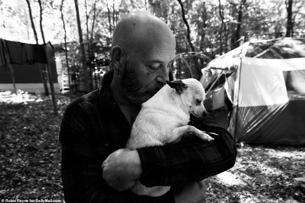 MAN AND DOG CAMP