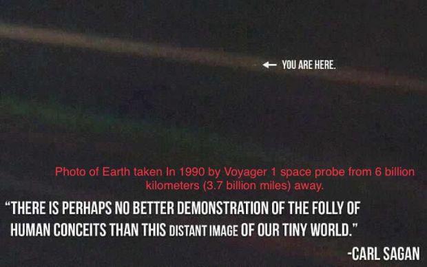 Tiny dot taken by Voyager
