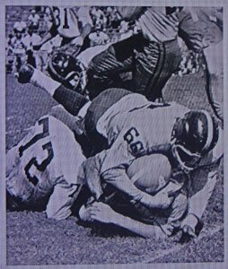Making a tackle in the Houston Oilers game