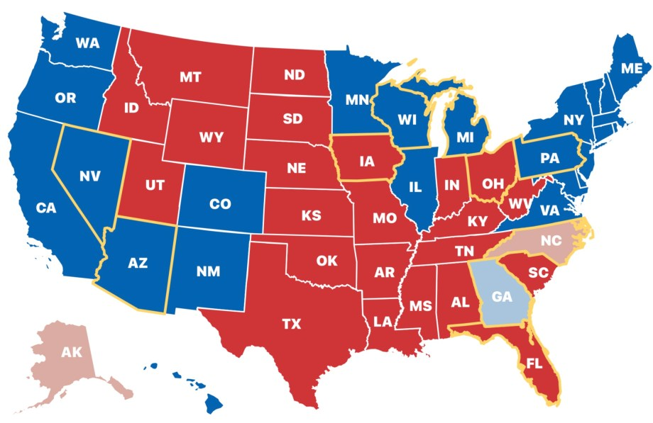 LOT OF RED STATES