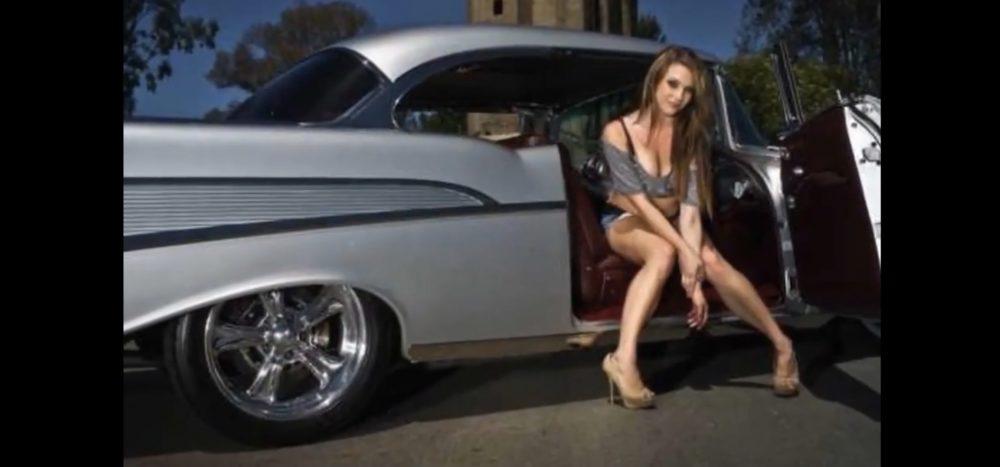 Beautiful women and classic cars