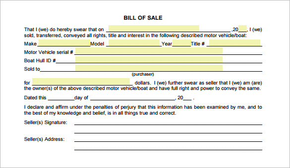 motorcycle bill of sale template word, motorcycle bill of sale
