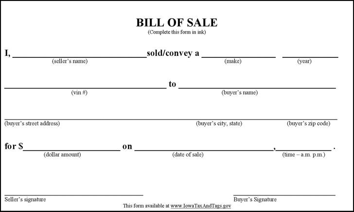 simple as is bill of sale