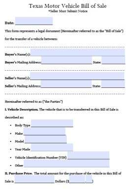 Image Result For Bill Of Sale Texas