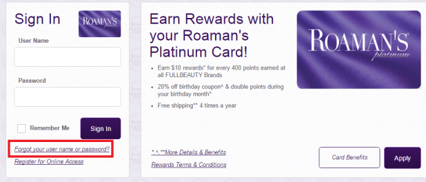 Image result for roamans credit card