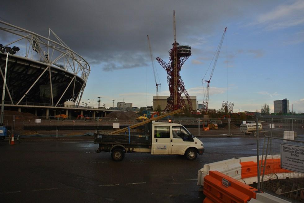 London stadium under construction
