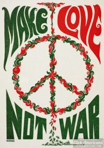 Make Love Not War poster 1960s