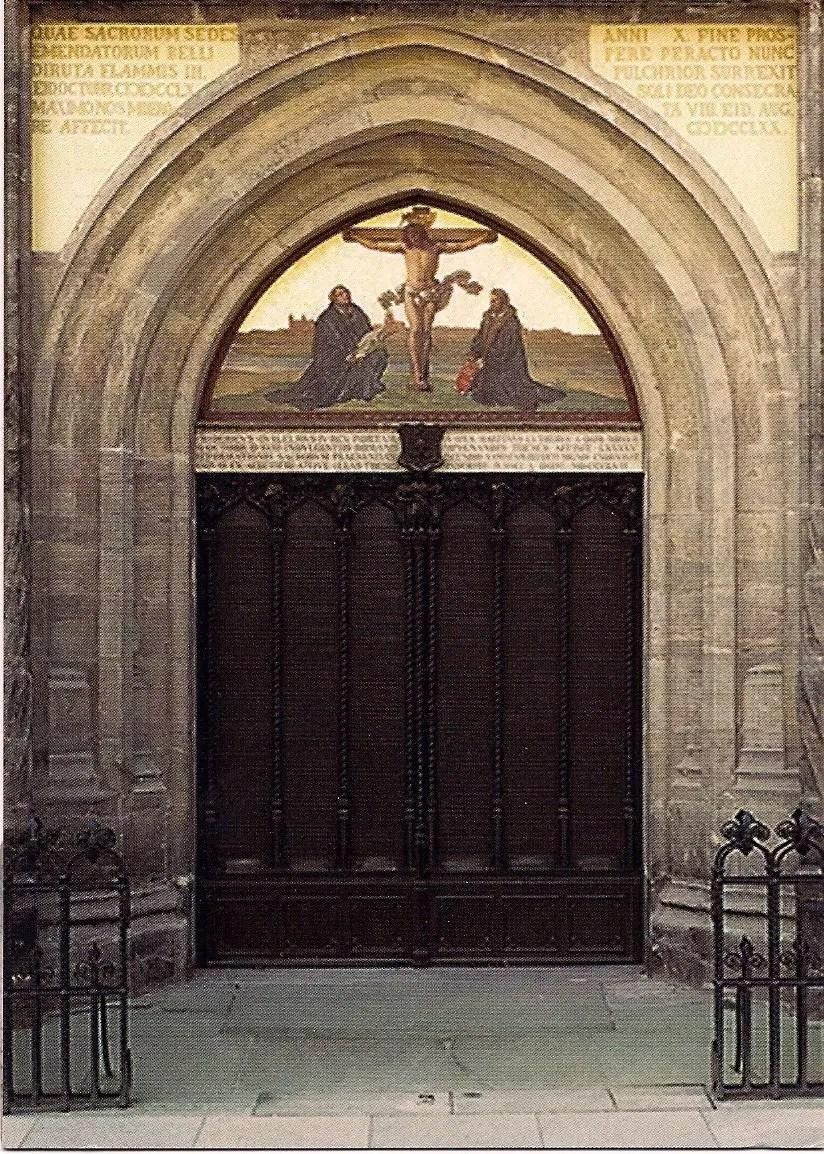 Decorating martin luther church door photos : History of October 31